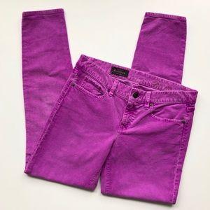 J. Crew Toothpick Skinny Cords in Purple